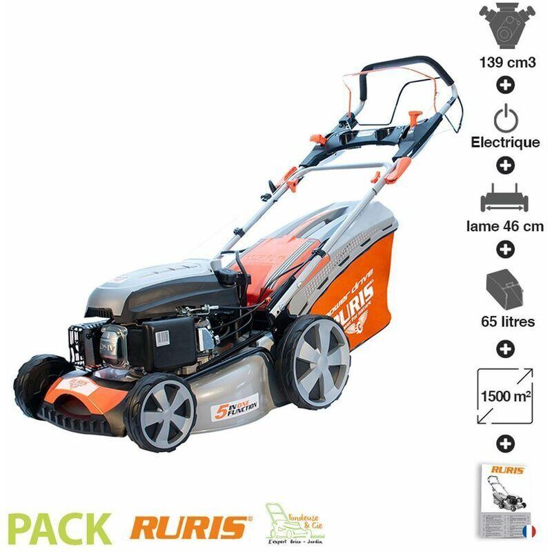 RURIS Tondeuse à gazon démarrage électrique 139cc coupe 46 cm Ruris RX331S