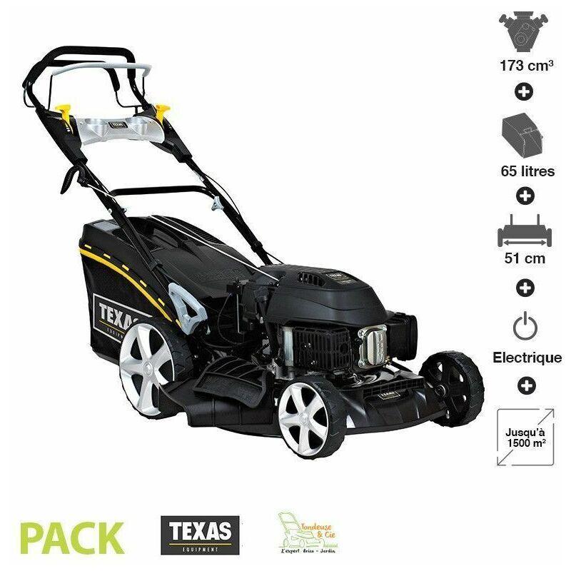 Texas - Tondeuse thermique tractée 173 cc 4,4cv démarrage électrique 51cm coupe