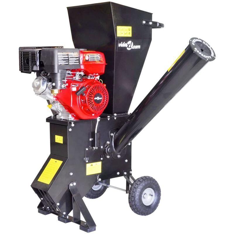 TOPDEAL VDTD04151_FR Déchiqueteuse de bois à essence avec moteur de 15 CH - Topdeal