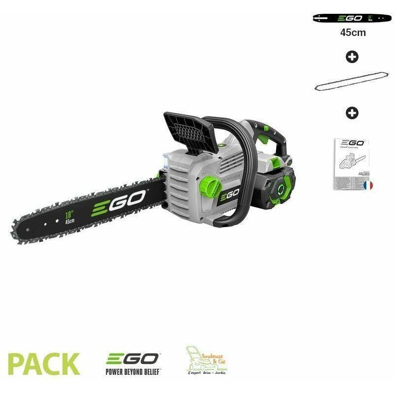 EGO POWER+ Tronconneuse electrique 1800W à batterie guide Oregon 45 cm Ego Power+ CS1800E
