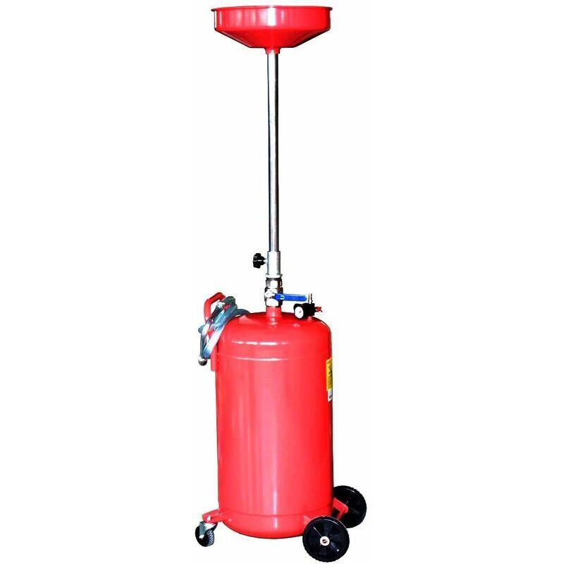 VARAN MOTORS NEOLD-17 Récupérateur d'huile de vidange pneumatique 80 litres - Rojo - Varan