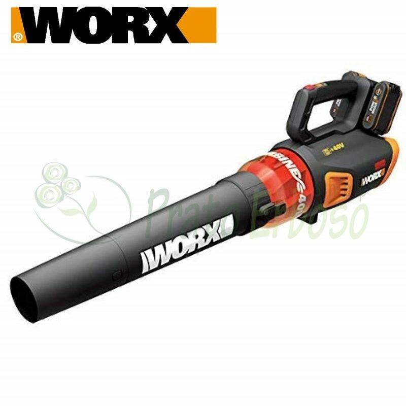 WORX WG584E - Souffleur à batterie 20 V + 20 V
