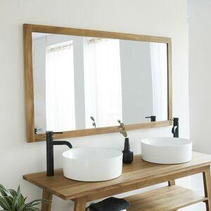 Bois Dessus Bois Dessous - Miroir en bois de teck 145 cm - Publicité
