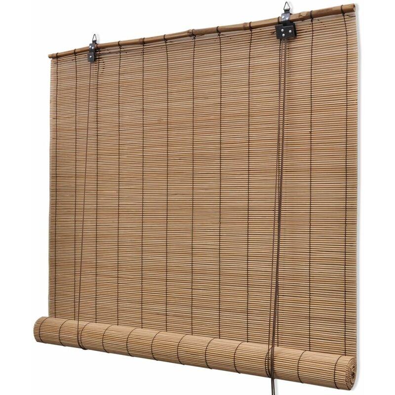 PERLE RARE Store roulant en bambou 100 x 220 cm Marron - Perle Rare