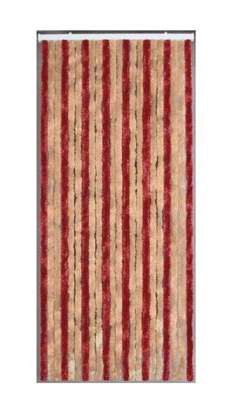 MOREL Rideau de porte Florence chenilles 90x220 cm - vanille, griotte - Morel
