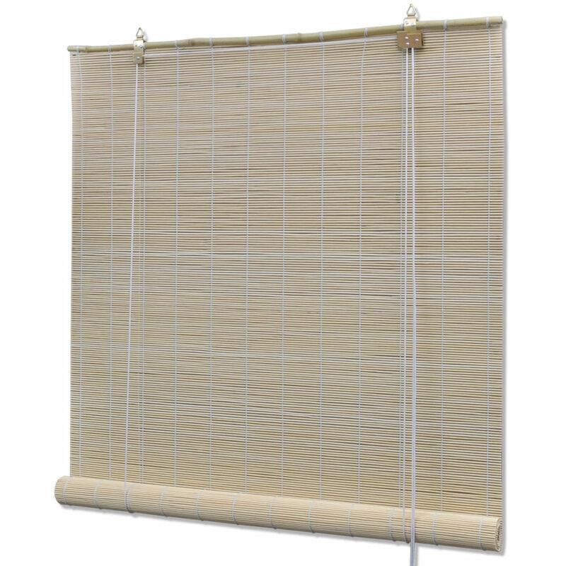HELLOSHOP26 Store enrouleur bambou naturel 150 x 220 cm fenêtre rideau pare-vue volet