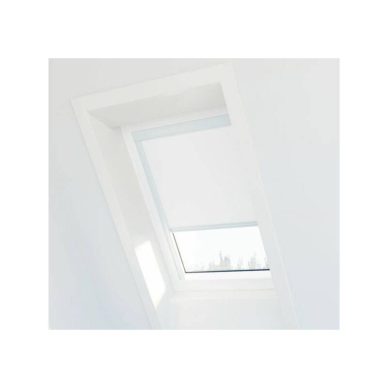 AVOSDIM Store occultant Blanc compatible Velux ® UK08 - Ossature blanche - Blanc