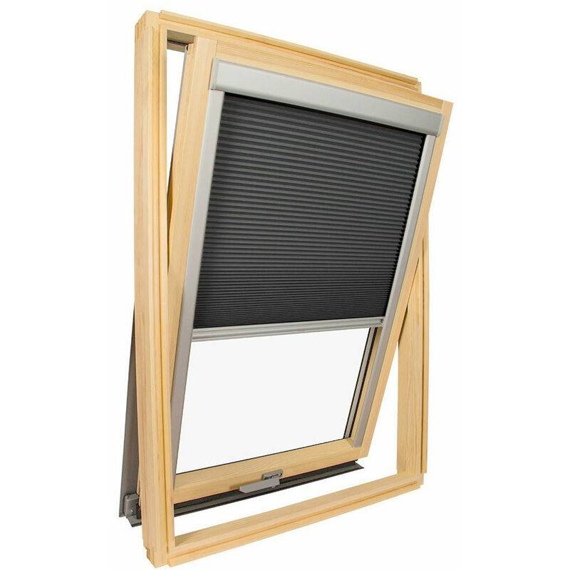 Avosdim - Store isolant pour fenêtre de toit Velux ® Gris anthracite - Code