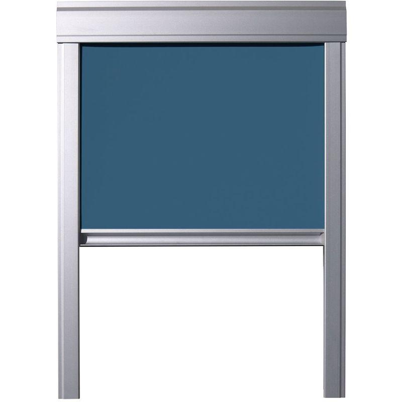 ITZALA Store Occultant pour Fenêtres De Toit VELUX, U04, UK04, 804, 7, Bleu Pétrole