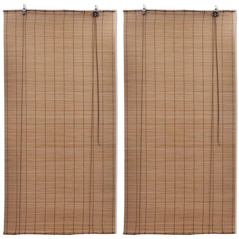 VIDAXL Stores roulants en bambou 2 pcs 80x160 cm Marron