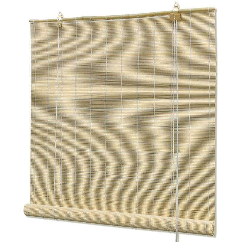TRUE DEAL Store roulant en bambou 80 x 220 cm Naturel - True Deal