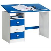 IDIMEX Bureau enfant écolier junior KEVIN pupitre inclinable avec 3 tiroirs 1 casier <br /><b>149.95 EUR</b> ManoMano