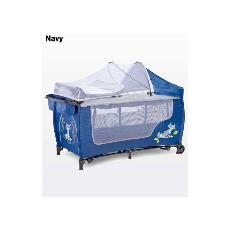 HUCOCO Lit parapluie / Lit de voyage pliant moustiquaire 1m+ GANDE PLUS   Bleu Marine