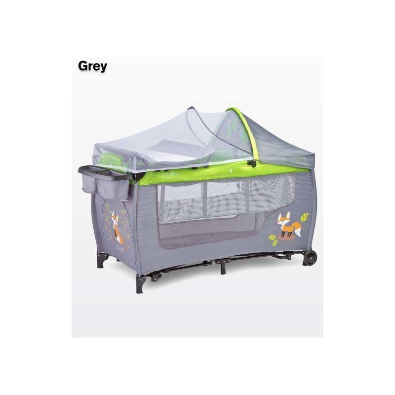 HUCOCO Lit parapluie / Lit de voyage pliant moustiquaire 1m+ GANDE PLUS   gris fonc