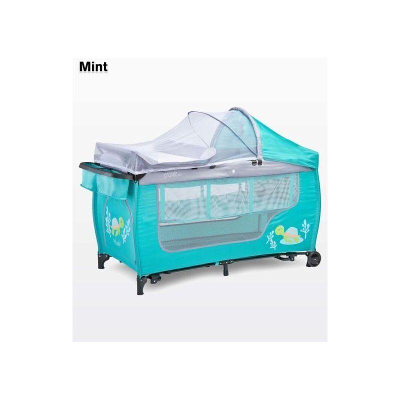 HUCOCO Lit parapluie / Lit de voyage pliant moustiquaire 1m+ GANDE PLUS   Menthe