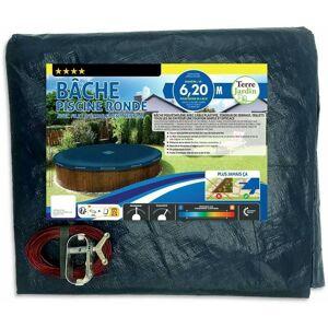 Terre Jardin - Bâche piscine ronde 6.20 m - Publicité