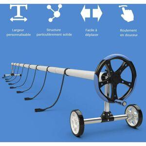 COSTWAY Enrouleur de Piscine Télescopique 6,3M en Acier Inoxdable avec 8 Tubes - Publicité