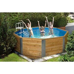 WEKA Piscine de luxe en bois massif de 7,5 m3, groupe de filtration et échelle - Publicité