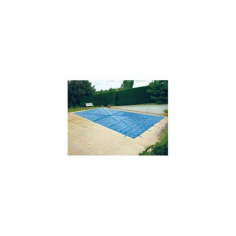 HELIOTRADE Bache de protection pour piscine enterrée 5x8 metres avec filet d'ecoulement