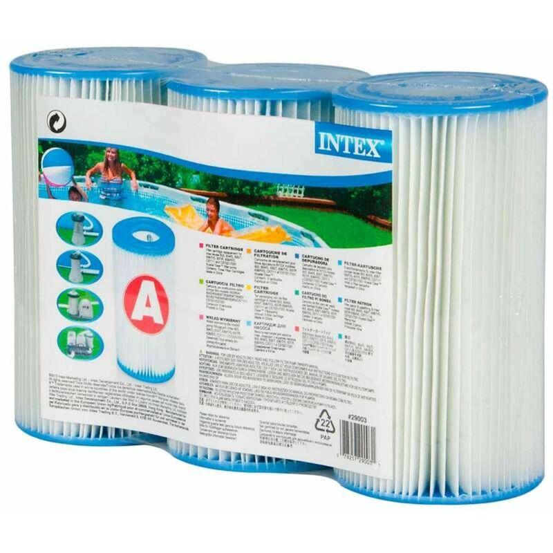 INTEX Cartouche de filtration Intex, Dacron Type A 200x110mm Lot de 3 cartouches