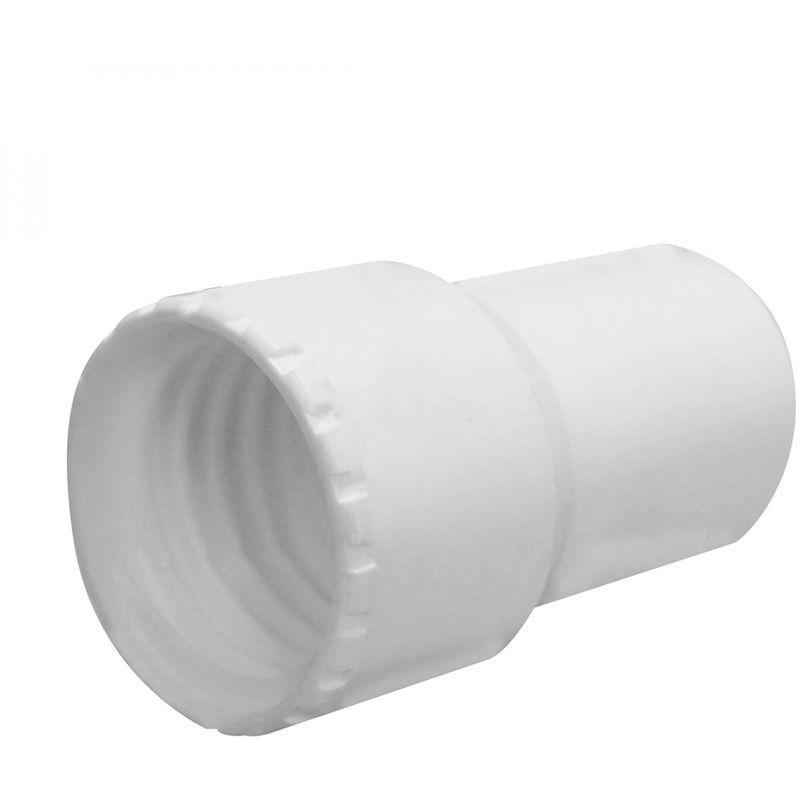 LINXOR Embout en PVC pour tuyau flottant de piscine - Diam 32 mm - Blanc - Linxor