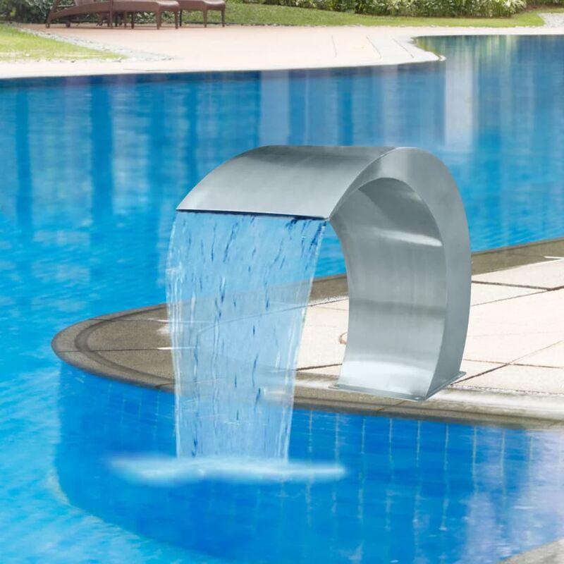 YOUTHUP Fontaine cascade de piscine Acier inoxydable 45 x 30 x 60 cm