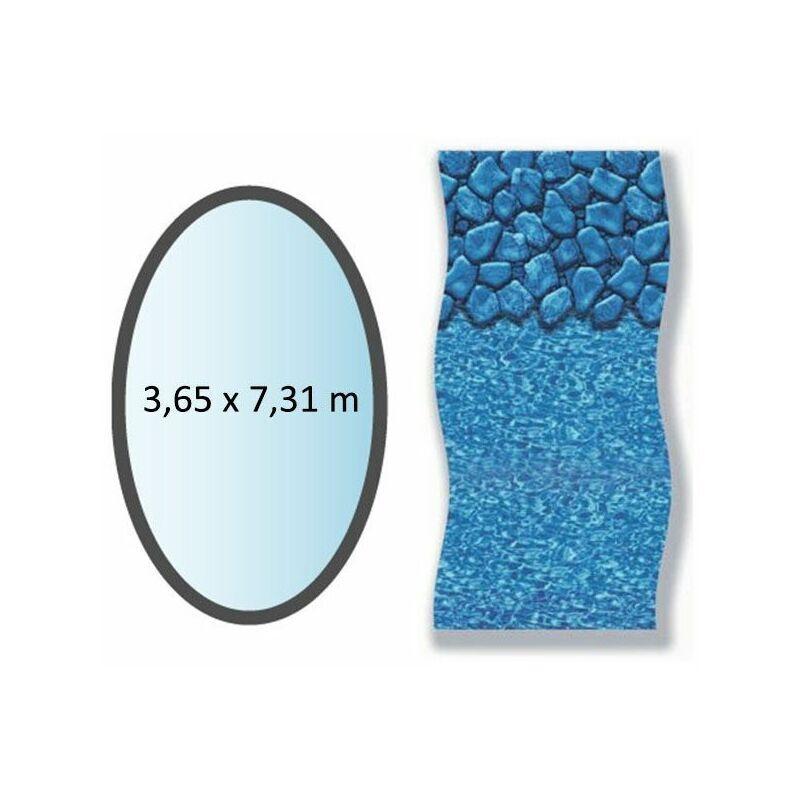 SWIMLINE liner boulder forme ovale 3.65x7.31m pour piscine hors sol - li1224sbo