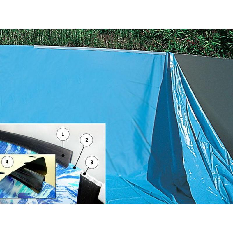 TOI Liner piscine hors-sol Toi SWIMPOOL ovale 550 x 366 x 120cm 35/40µ coloris uni