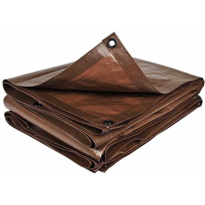 TERRE JARDIN Bâche de jardin marron 140 g/m2 5 x 8