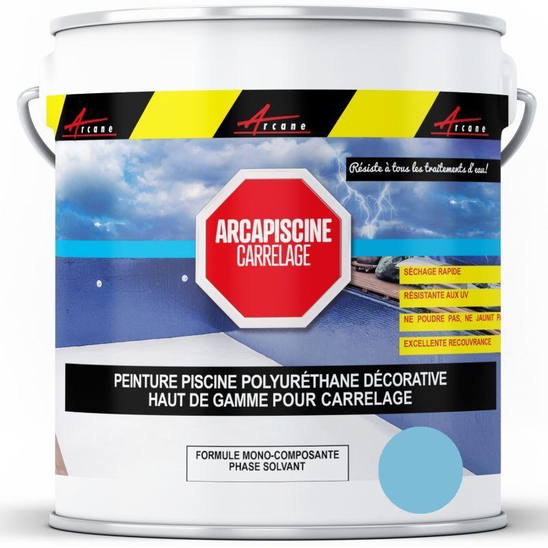 ARCANE INDUSTRIES Peinture Piscine Carrelage Polyuréthane Bleu Piscine - 20 kg (jusqu'à 65m² pour