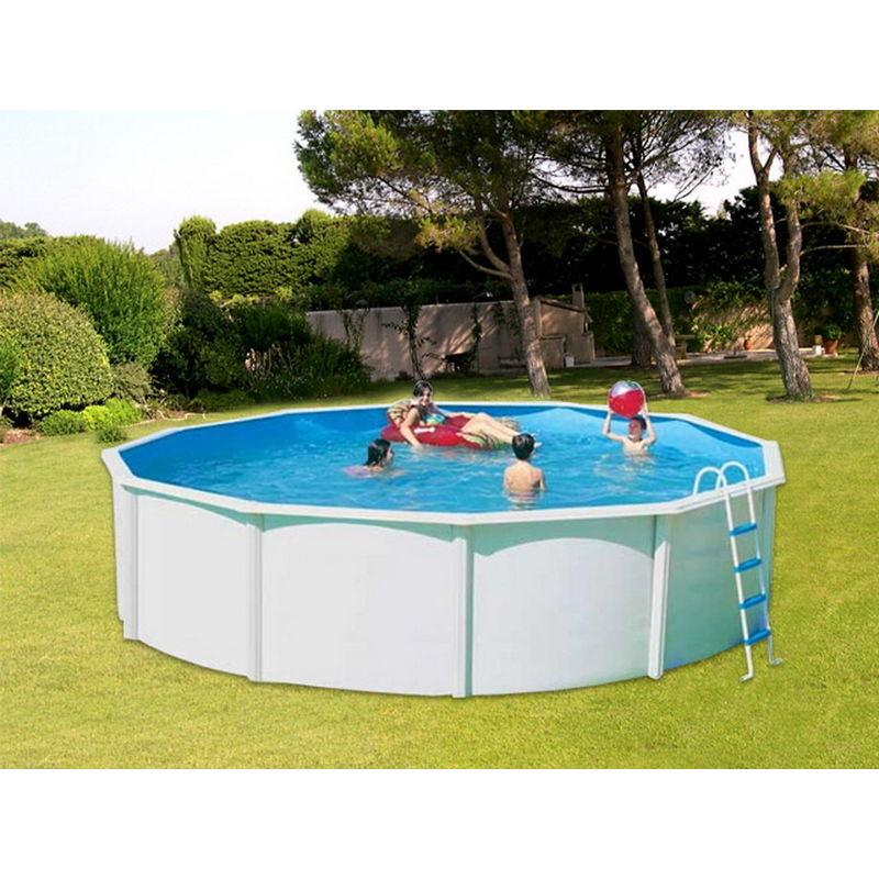 TOI Kit piscine hors-sol acier CANARIAS CIRCULAR ronde 3.50m x 1.20m - TOI