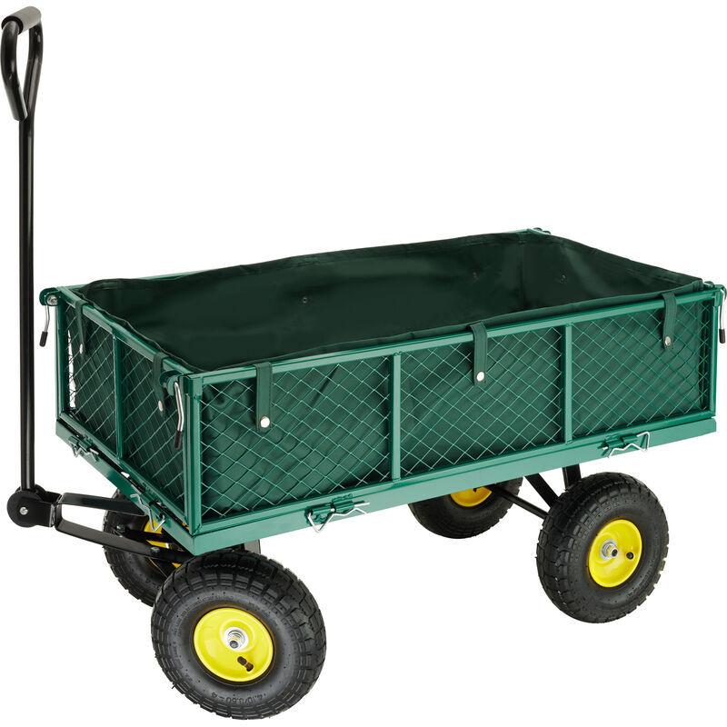 Tectake - Chariot de Jardin + Bâche Charge Maximum 350 Kg Vert