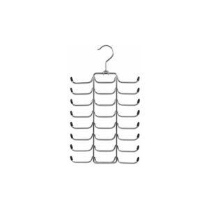 ZELLER PRESENT Zeller 17147 Cintre porte-ceintures / porte-cravates en métal chromé, 21 x 40 cm - Publicité
