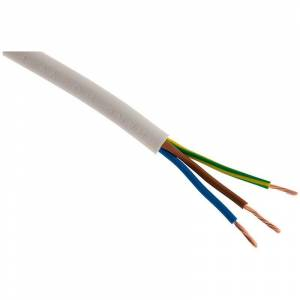 ZENITECH Câble d'alimentation électrique HO5VV-F 3G1 Blanc - 10m - Publicité