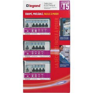 Legrand - Tableau électrique équipé - spécial pour logement T5 - Publicité