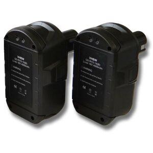 VHBW Lot de 2 batteries Li-Ion vhbw 4000mAh (18V) pour outils Ryobi LDD-1802PB, - Publicité