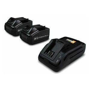 FEIDER Pack de 2 batteries lithium 20 V + Chargeur FB202B - Feider - Publicité