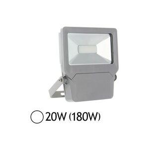 VISION-EL Projecteur extérieur LED 20W (180W) IP65 Finition gris Blanc jour 6000°K - Publicité