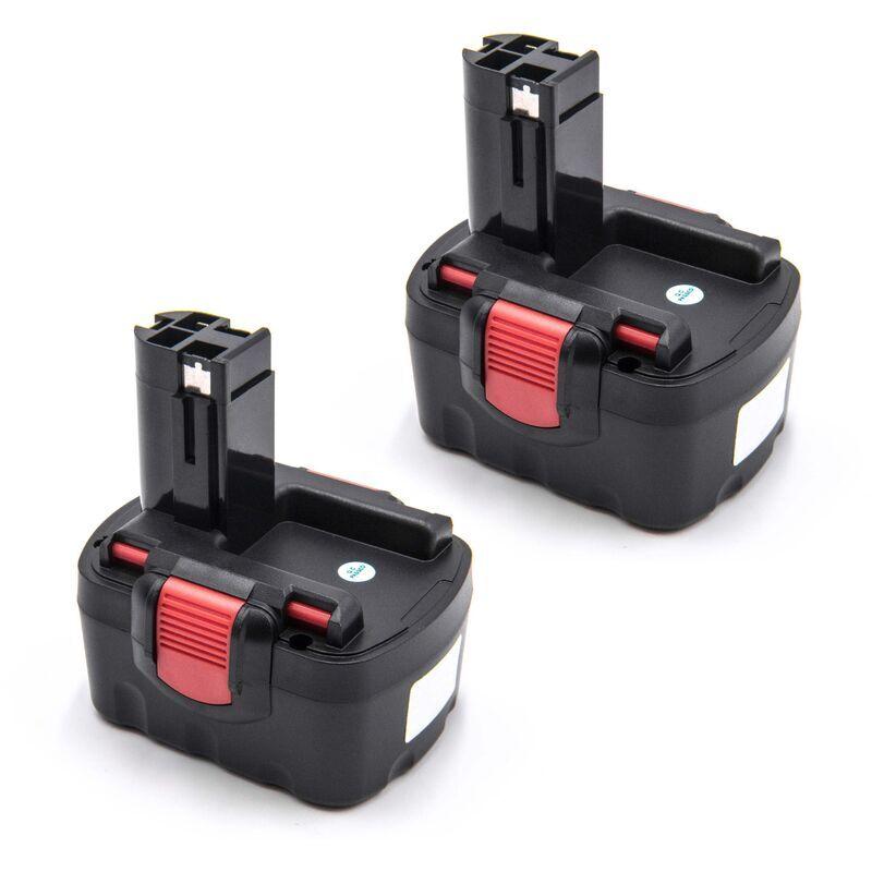 VHBW 2 x Batterie compatible avec Bosch GLI 14.4V, GSB 14.4, GSR 14.4, GSR 14.4V,