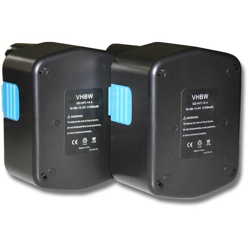 VHBW 2x Batterie Ni-MH 2100mAh (14.4V) pour outils Hitachi C-2, CJ 14DL, D V14DCL,