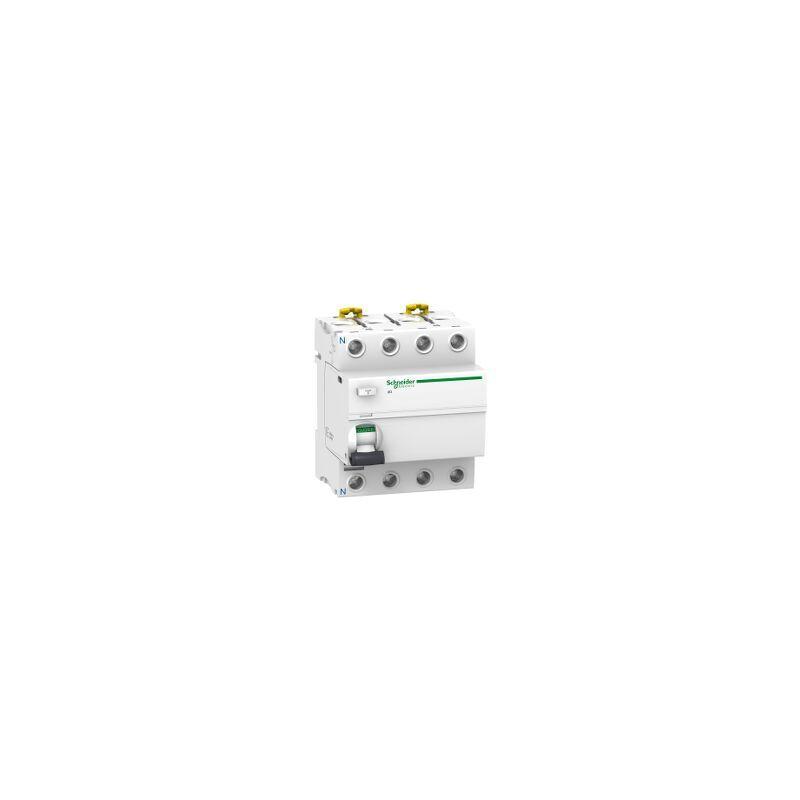 Schneider - Acti9, iID interrupteur différentiel 4P 80A 300mA sélectif type AC
