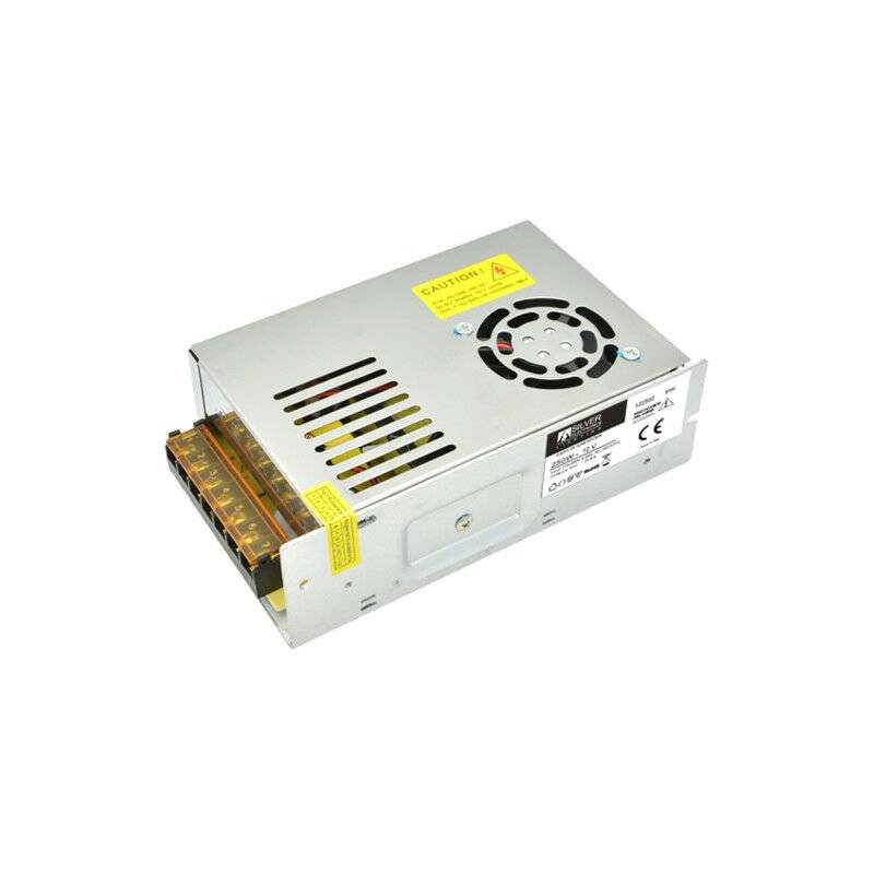 SILVER Alimentation 24 volts 250w 10,4 Amps Protection Ip20 1 Mesures 59x99x49mm 132502