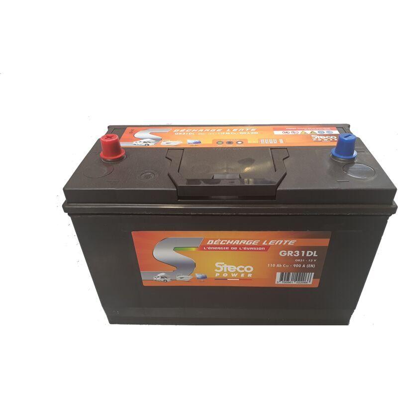 STECOPOWER Batterie 110 Ah (20h) 330x172x240 Gamme STECO Décharge Lente STECOPOWER