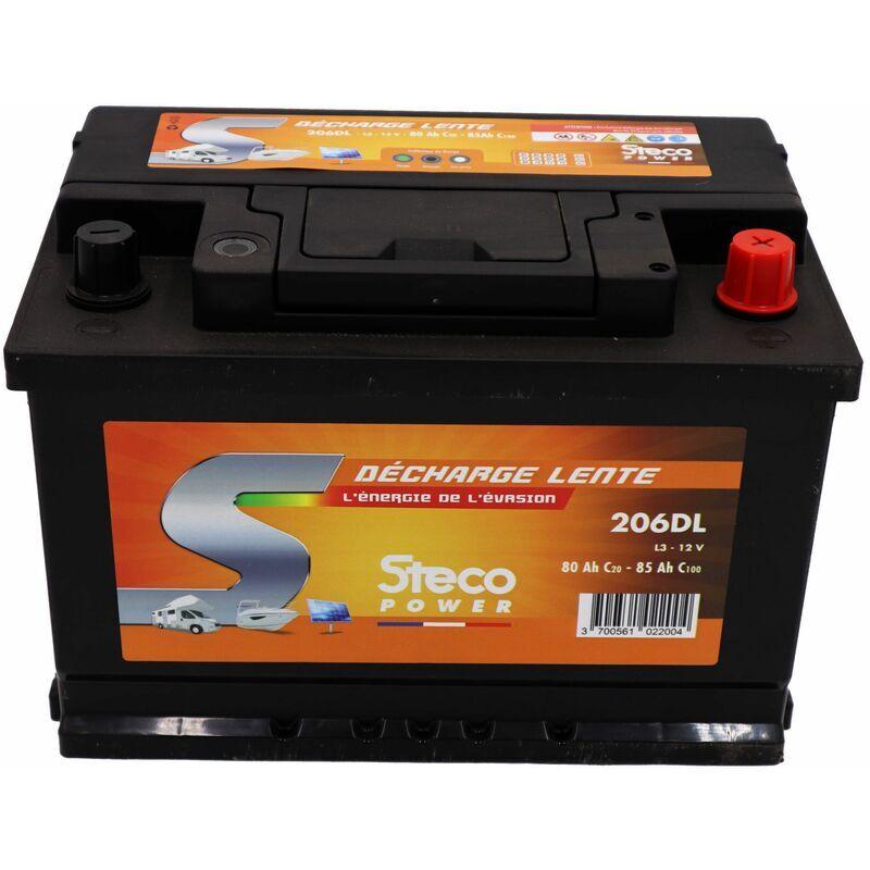 STECOPOWER Batterie 80 Ah (20h) - 85 Ah (100h) 277x175x190 Gamme STECO Décharge Lente