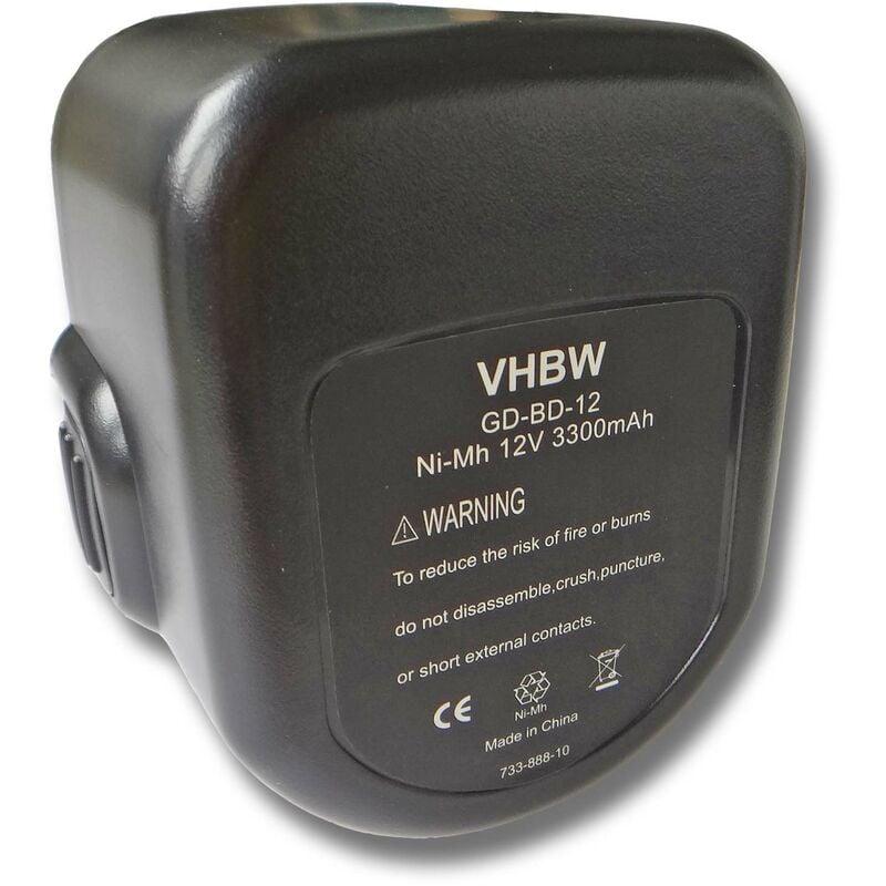 Vhbw - Batterie 3000mAh pour outil Black & Decker CD1202GK, CD12CB, CD431K,