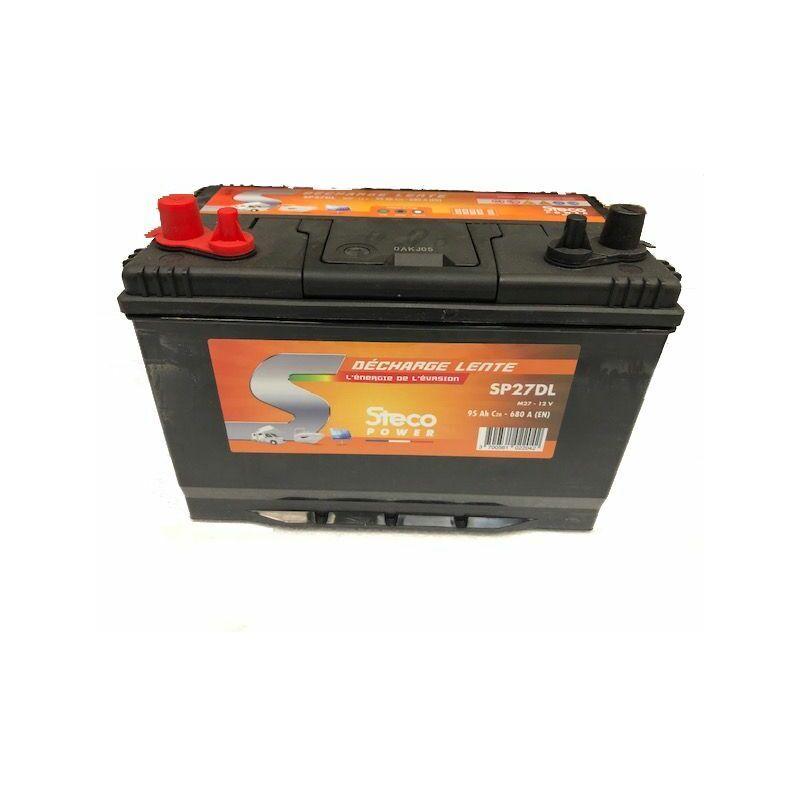 STECOPOWER Batterie 95 Ah (20h) 302x172x220 Gamme STECO Décharge Lente STECOPOWER - SP27DL
