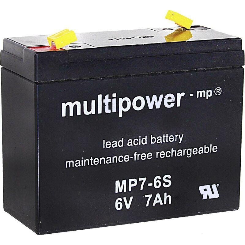 MULTIPOWER Batterie au plomb 6 V 7 Ah sans entretien, auto-décharge réduite Y897311