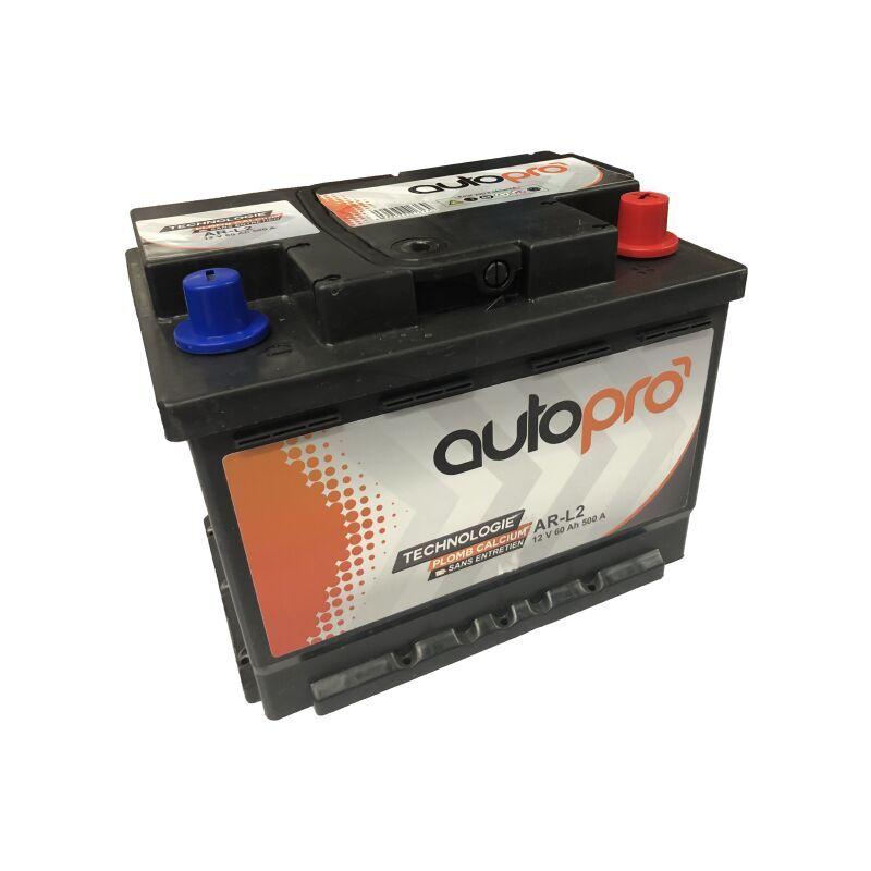 AUTOPRO Batterie AUTOPRO 1er prix SMF AR-L2 60AH 500 AMPS 248x175x190 +D