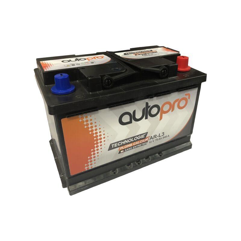 AUTOPRO Batterie AUTOPRO 1er prix SMF AR-L3 70AH 640 AMPS 278x175x190 +D