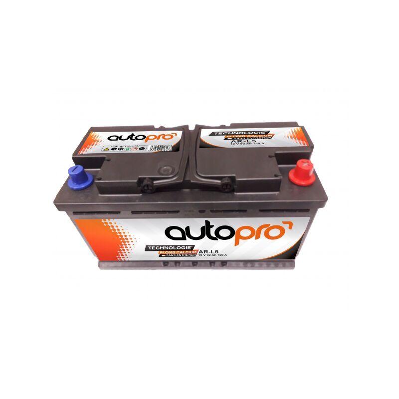 AUTOPRO Batterie 1er prix SMF AR-L5 92AH 720 AMPS 353x175x190 +D - Autopro